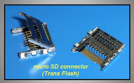 Mikro SD kártya PCB foglalat kioldóval CARD-SD-MIC002