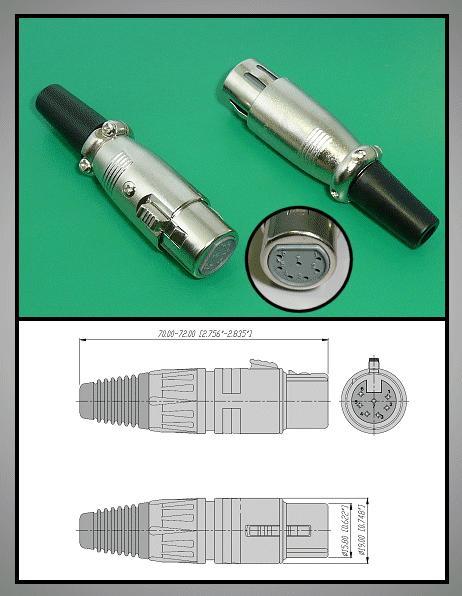 XLR aljzat 7p. (lengő) XLR-7F