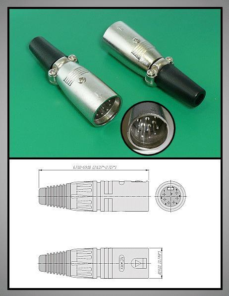 XLR dugó 7p. (lengő) XLR-7M
