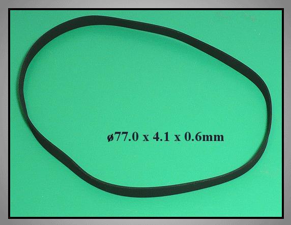 Lapos gumi szíj 77.0x4.1x0.6mm B/F77.0-41