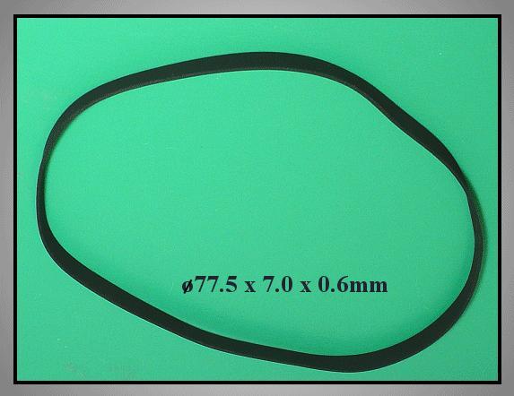 Lapos gumi szíj 77.5x7.0x0.57mm B/F77.5-70