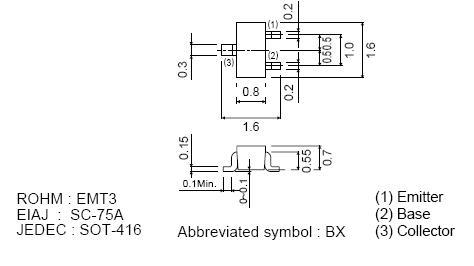 SI-N SMD 15V 0.5A 150mW Vce(sat)90..250mV 2SC5585 -