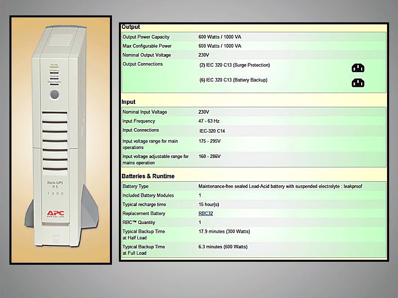 APC BR1000i UPS szünetmentes tápegység, 1000VA (trapéz) P.SUP.UPS1000