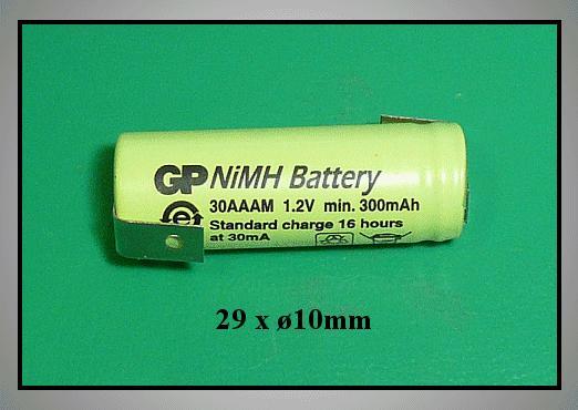 Ni-MH 1.2V 300mAh akkumulátor 2/3AAA 10x29mm ACCU-1.2/300AA3