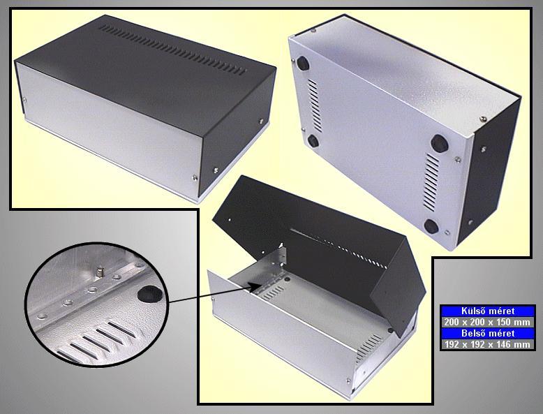 Alumínium műszerdoboz 200x200x150mm BOX M200/200/15
