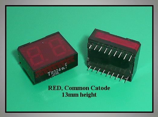 2x7 SEGM.DISPLAY C.C. RED TR324