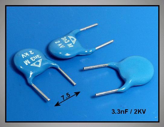 Kerámia kondenzátor 3.3nF 2000V 20% RM-7,5 CC 3N3 2000V