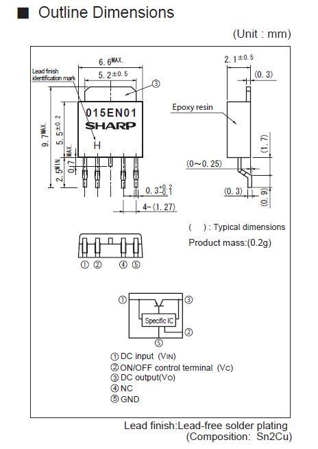 POS V-REG.+SW 3.3V 4p. SMD PQ033EN5M