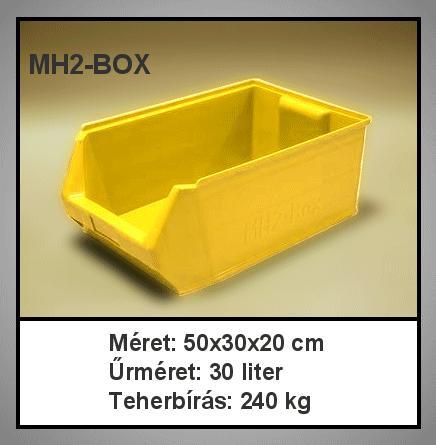 Tároló doboz HM2-Box I.oszt. Sárga 500x300x200mm BOX MH2-Y