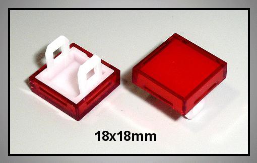 Nyomógomb, piros 18x18mm SW1110KR