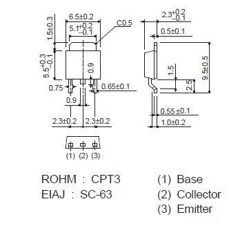 Tranzisztor NPN SMD 100/60V 5A/10Ap 10W 120MHz 2SC5103 2SC5103 -