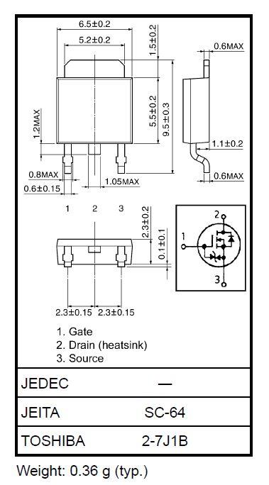 Tranzisztor N-MOSFET+Z SMD 600V 2A/5Ap. 42W 4.4R (1.2A) 2SK2865J 2SK2865J -