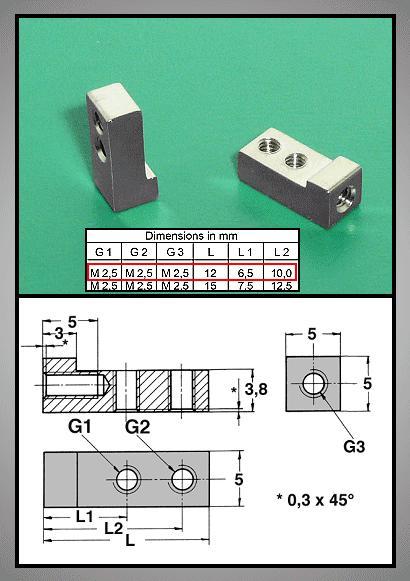 Fém panel tartó, kártya rögzítő 90° V-00610/0506422