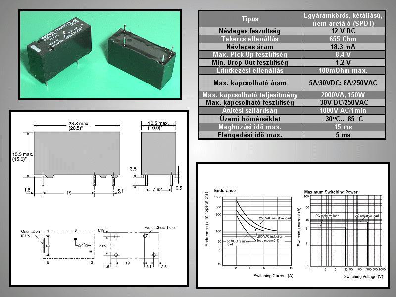 RELAY 1x250VAC 8A 12VDC G6RN-1A-12 RELAY-G6RN-1A12