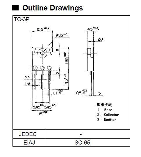 SI-P DARL 110V 6A 60W 60MHz 2SB1625 -