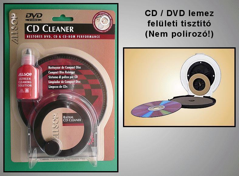 ALLS-59000 CD CLEANER (CD tisztitó) CLP-005