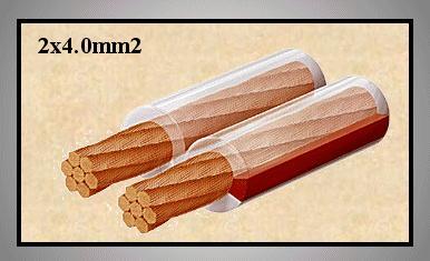 Hangfalkábel professzionális lapos 2x4.00mm2 CCA CABLE LSP4.00T