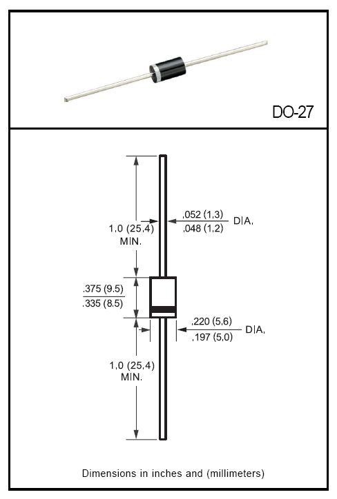 Dióda, SCHOTTKY 20V 3A/80Ap Uf:0.48V 1N5820 1N5820 -