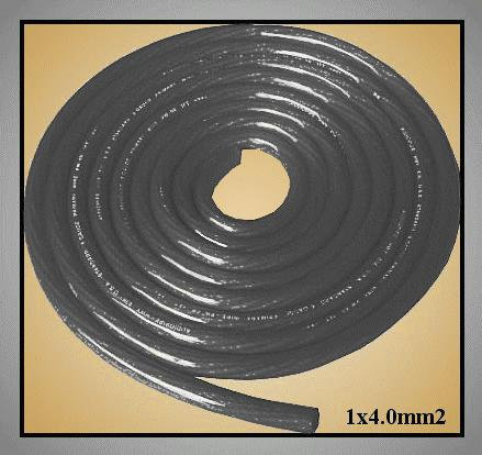 Flexibilis POWER kábel 1x4.00mm2 CU (fekete) CABLE LSP4.00-B -