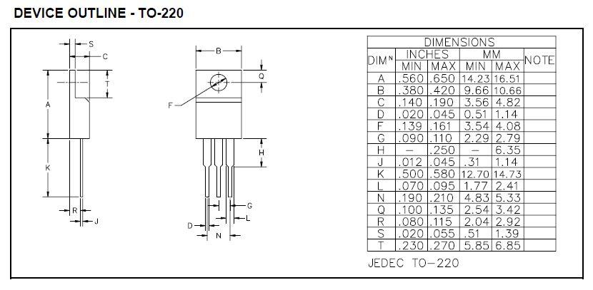 POS.V-REG 1,3..5,7V 3A TO220 3p EZ1587CT