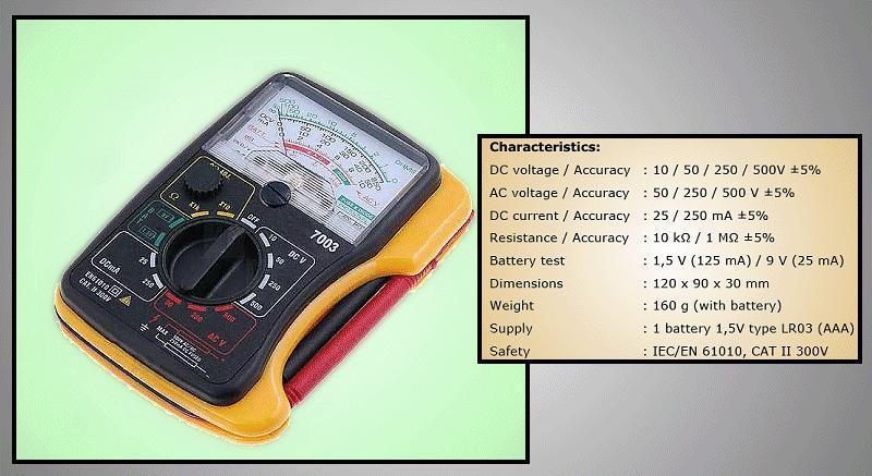 Analóg multiméter M.M-AX7003