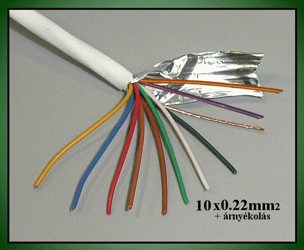 Riasztókábel (árnyékolt) 10x0.22mm2 CABLE S/10