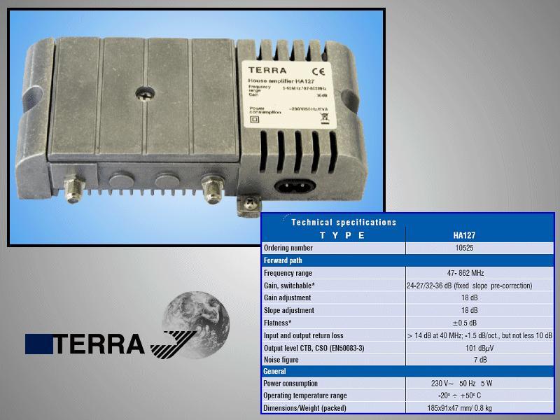 Antenna erősítő 47-862MHz, 1-OUT ANT AMP HA127