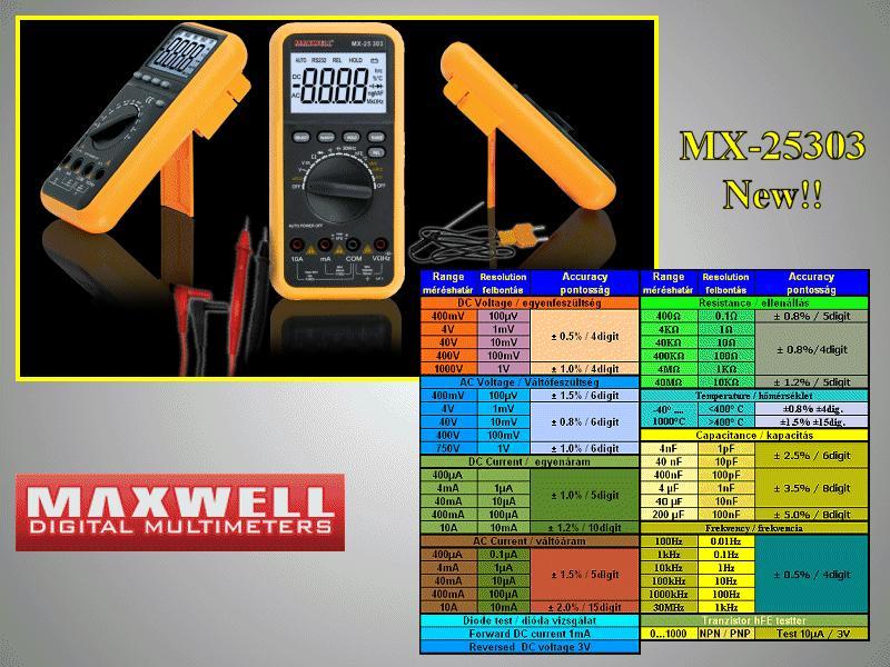 4Digit LCD Digital multimeter, 10-funkció M.M-MX-25303