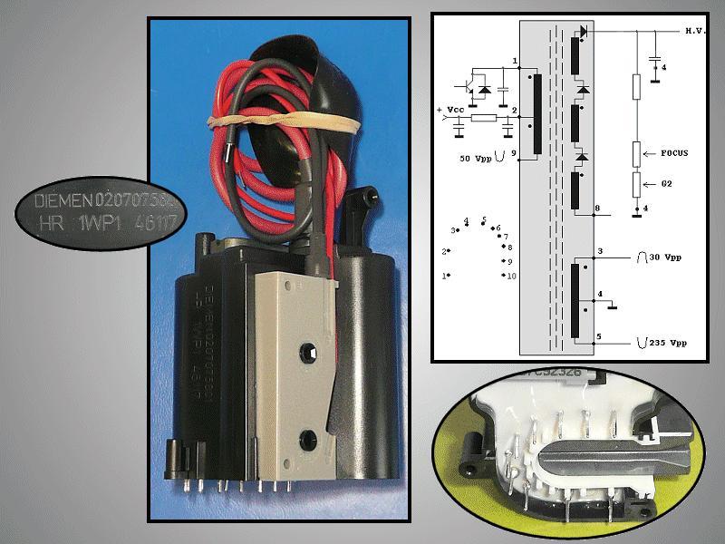 TRAFO: SAMSUNG FKD-15A001 sorkimenő HR46117