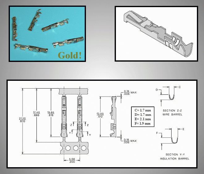 Egysoros csatlakozó tű (aranyozott) CSAT-10M00/G