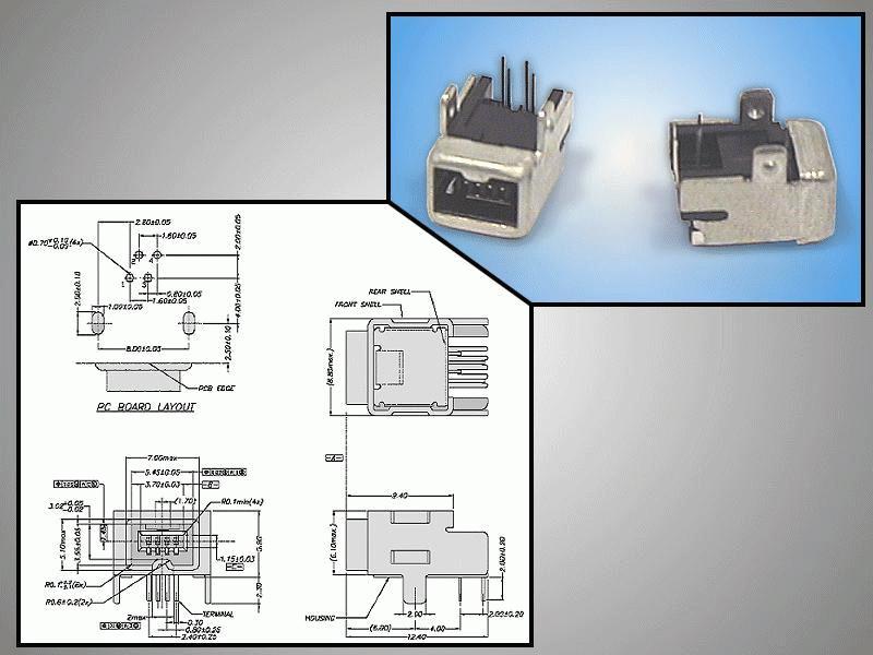 IEEE1394 Dig.Vid. 4p Mini aljzat CSAT-IEEE4M/1