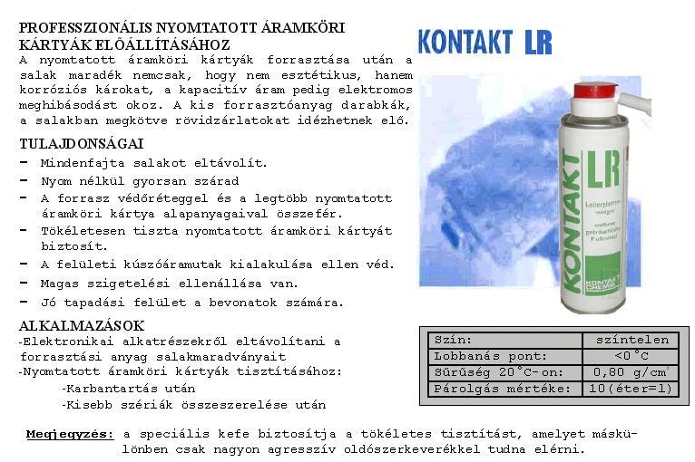 SPRAY: CIRCUIT CLEANER LR 200ml LR/200