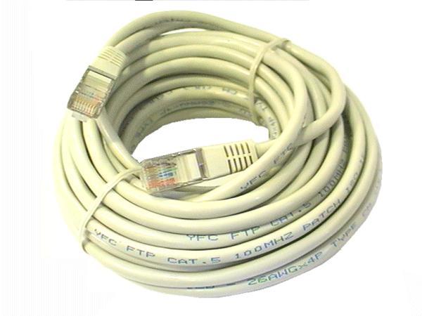 Cat.5E FTP patch kábel 10m 8p+F (árnyékolt) CCA CABLE FTP/10