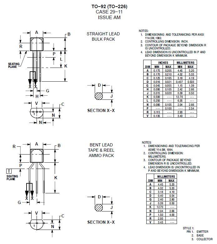 Tirisztor 200V 0.5A 50Hz Igt<0.2mA 2N5064 -