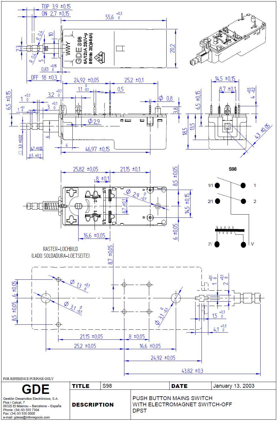 Hálózati főkapcsoló: GRUNDIG +2p.SW SW0399