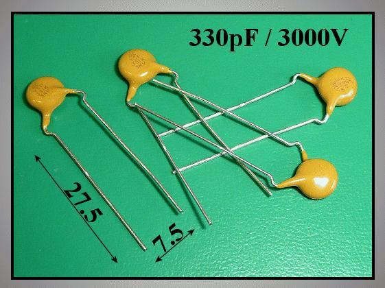 Kondenzátor 330pF 3000V kerámia C330P 3000/CER