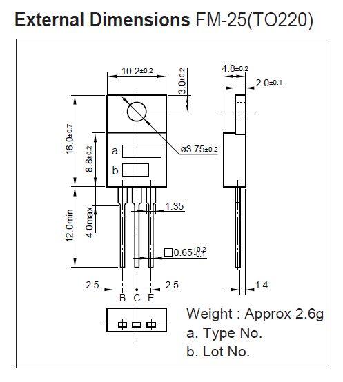 SI-P DARL 110V 6A 50W 100MHz 2SB1659 -