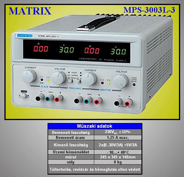 230VAC -> labor tápegység 2x0...30Vdc / 2x0...3A, +5Vdc 3A P.SUP.AS1203+5