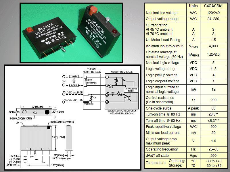 SSR 24-280V 3A 5VDC(Logic) RELAY-G4OAC5A