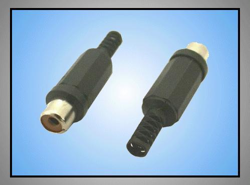 RCA aljzat - fekete törésgátlós CSAT-C106/B