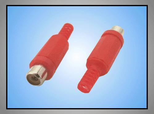 RCA aljzat - piros törésgátlós CSAT-C106/R