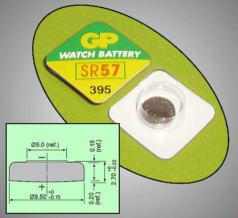1.55V óraelem ezüst (GP 395) BAT 395 GP