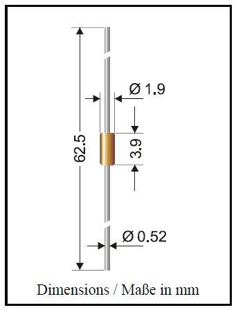 SI-D 50V 0.3A Ifrm 0.6A 4ns Cd:2.5pF 1N4150 -
