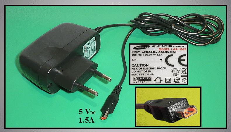 SAMSUNG ADAPTER AA-MA9/EUR CAMC.CHARGER/97