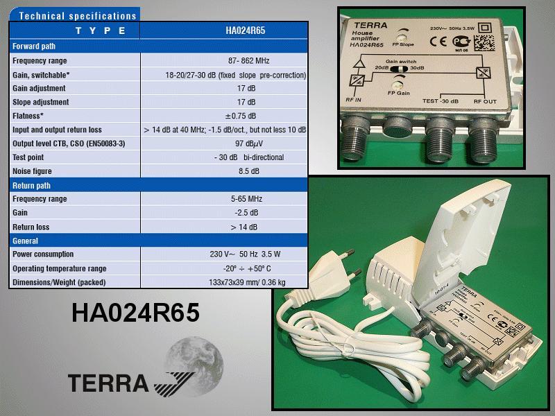 Antenna erősítő 5-65 / 87-862MHz ANT AMP HA02465