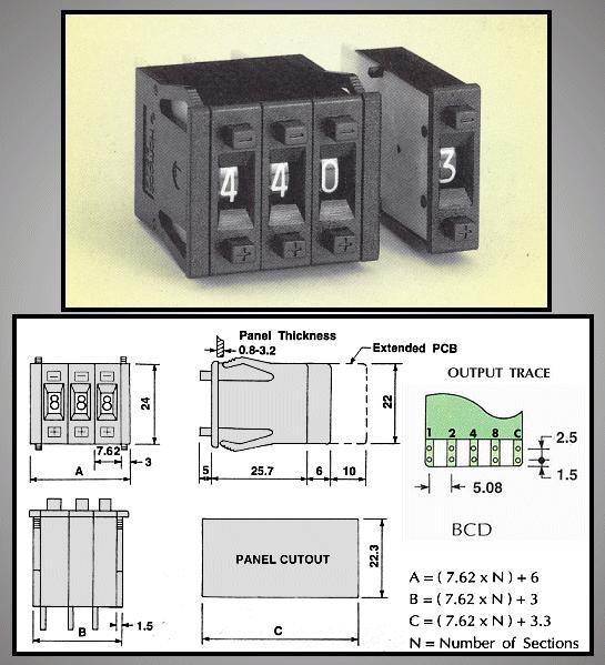 10 poziciós kódkapcsoló BCD (1db/ár) ENCODER Z-49-BCD