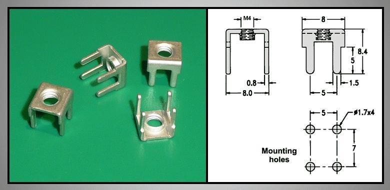 Vezeték rőgzítő nyákhoz M4-es menettel CS-K00000M4