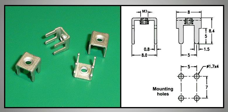 Vezeték rőgzítő nyákhoz M3-es menettel CS-K00000M3