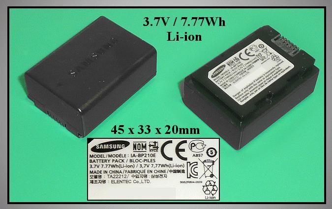 Kamera akkumulátor IA-BP210E CAMC.024
