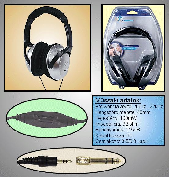 16-22.000Hz/115dB 3.5mm+6.3mm HEAD PHONE 12